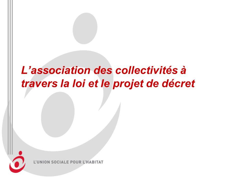 Lassociation des collectivités à travers la loi et le projet de décret