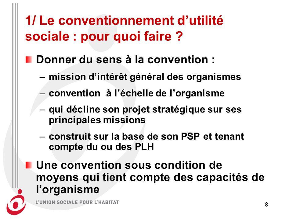 8 1/ Le conventionnement dutilité sociale : pour quoi faire .