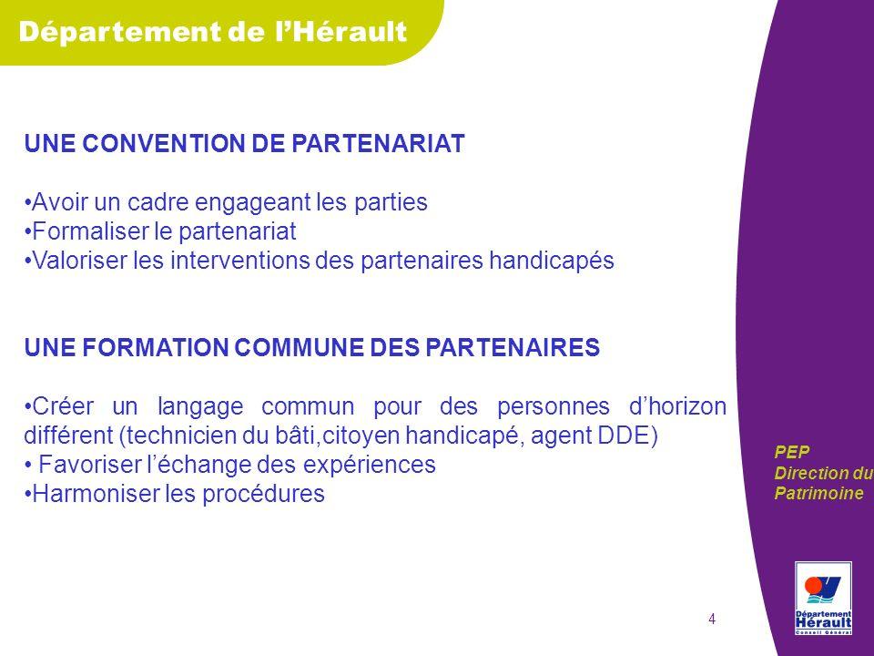 Département de lHérault PEP Direction du Patrimoine 5 LAUDIT DU PATRIMOINE 1.QUI.