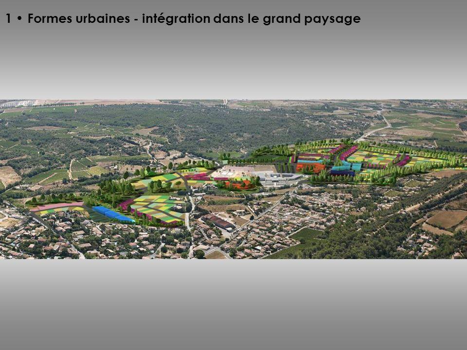 1 Formes urbaines - intégration dans le grand paysage