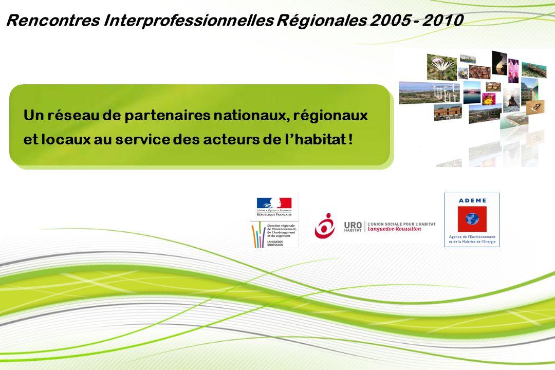 Collectivités et institutionnels Rencontres Interprofessionnelles Régionales 2005 - 2010