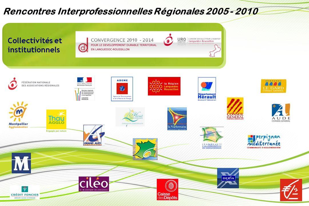 Bailleurs sociaux et Association de locataires Rencontres Interprofessionnelles Régionales 2005 - 2010
