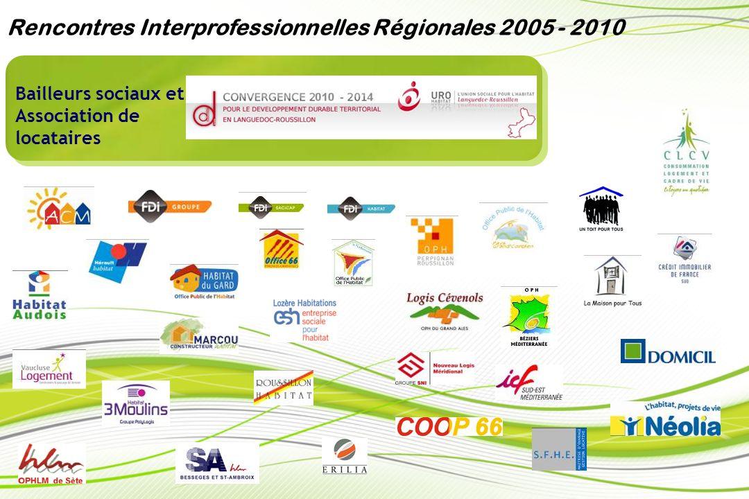 Secteur privé et public / Organisations professionnelles Rencontres Interprofessionnelles Régionales 2005 - 2010