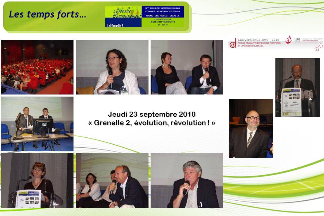 Jeudi 23 septembre 2010 « Grenelle 2, évolution, révolution ! »