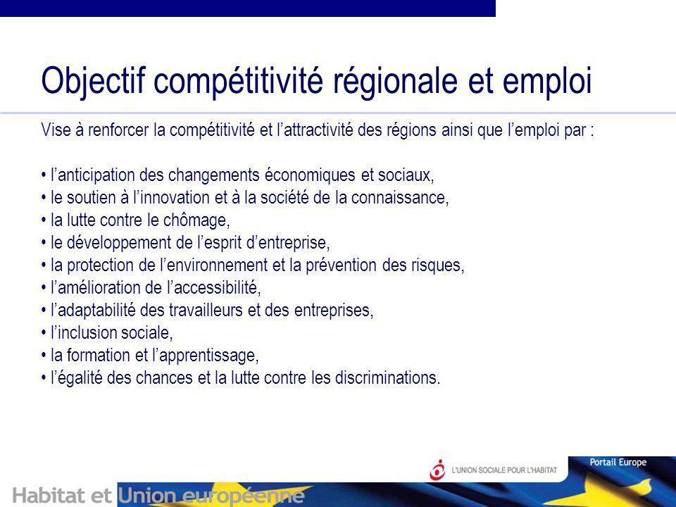 Les priorités stratégiques retenue par la France : - lenvironnement économique et le soutien aux entreprises incluant linnovation et lexcellence territoriale (recherche et développement, soutien au PME) - la formation, lemploi, la gestion des ressources humaines et linclusion sociale.