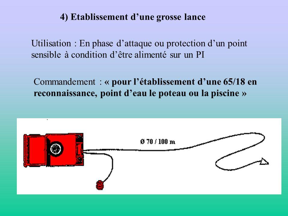 3) Transformation de la LDV 80 / 250 en 1 ou 2 lances de 20/7 Utilisation : Lors de la phase de noyage Commandement « transformation de la 80 / 250 en
