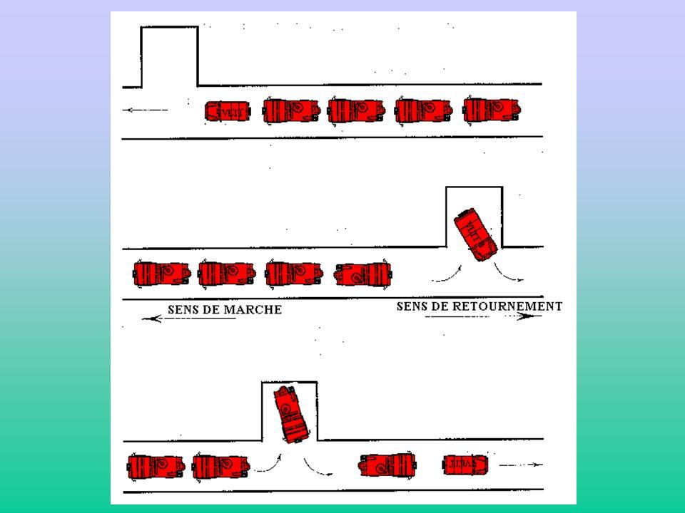 2) Formation piste : Pendant le roulage sur piste, lengin le plus lent ou le plus encombrant se placera en dernière position. Commandement « Prenez la