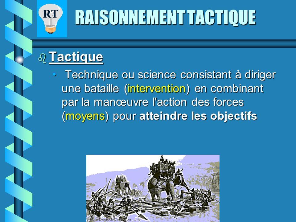 RT RAISONNEMENT TACTIQUE Raisonnement Raisonnement LeLe raisonnement est une association logique d'idées d'idées qui conduit à une conclusion, conclus
