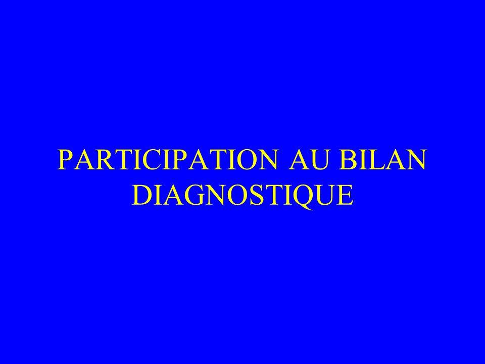 PARTICIPATION AU BILAN DIAGNOSTIQUE