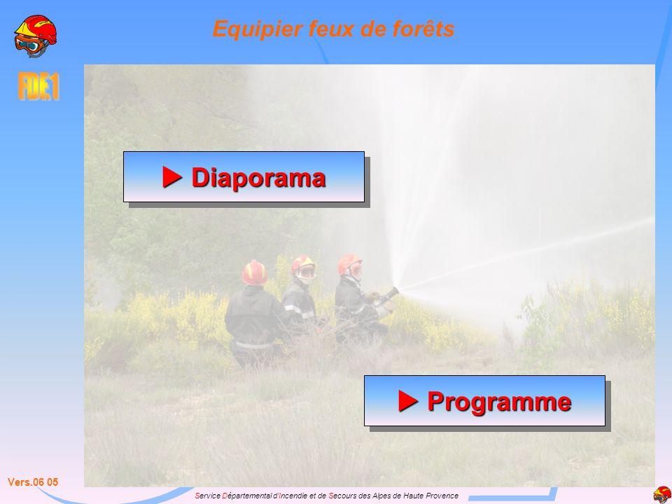 Service Départemental dIncendie et de Secours des Alpes de Haute Provence Diaporama Diaporama Diaporama Diaporama Vers.06 05 Programme Programme Progr
