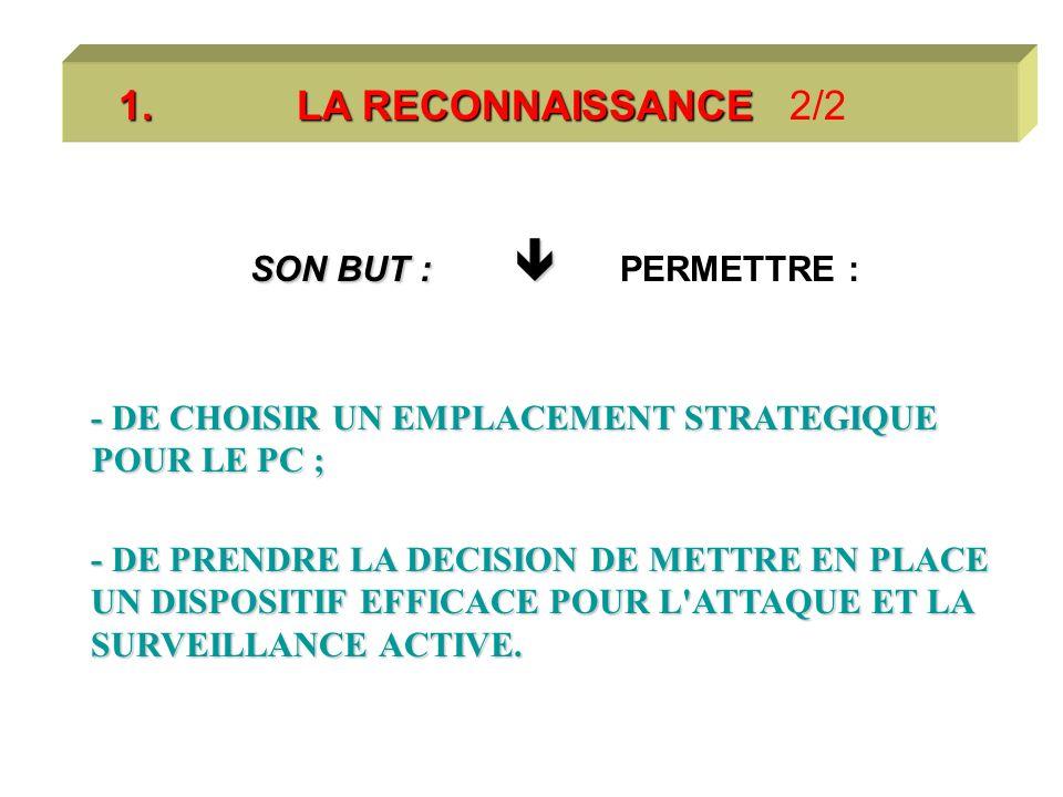 1. LA RECONNAISSANCE 1.