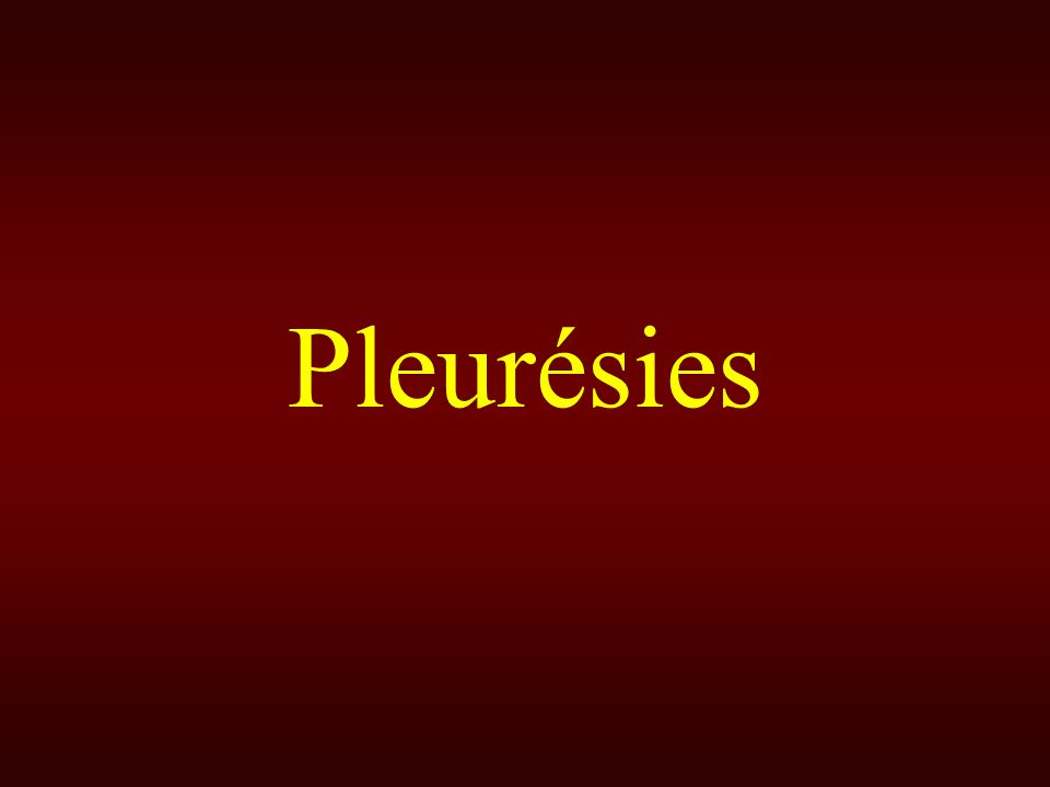 Pleurésies