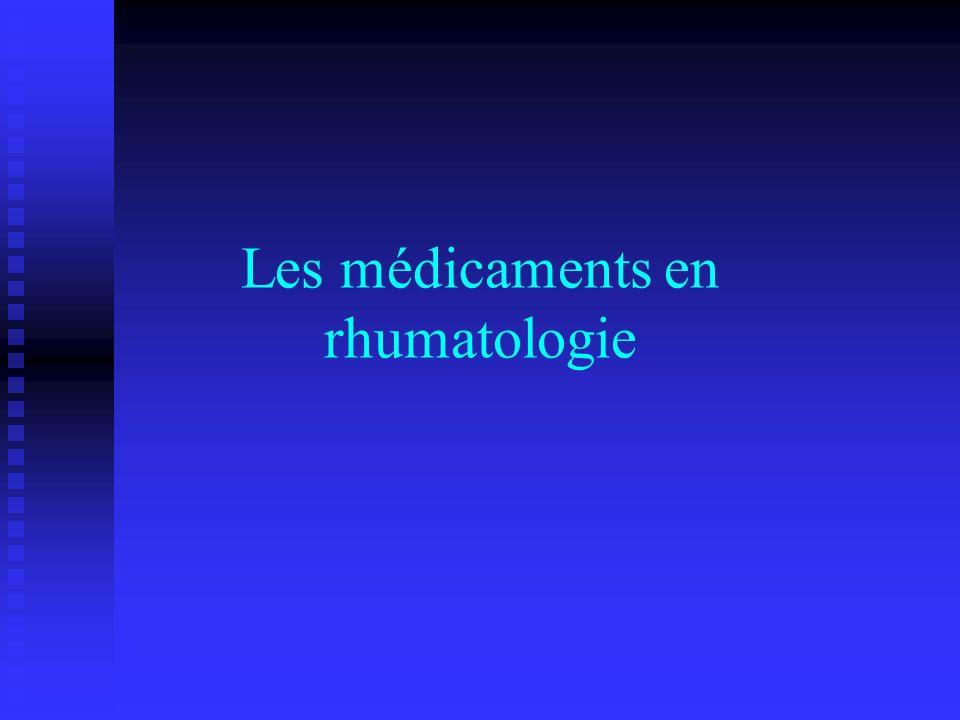 Les médicaments en rhumatologie
