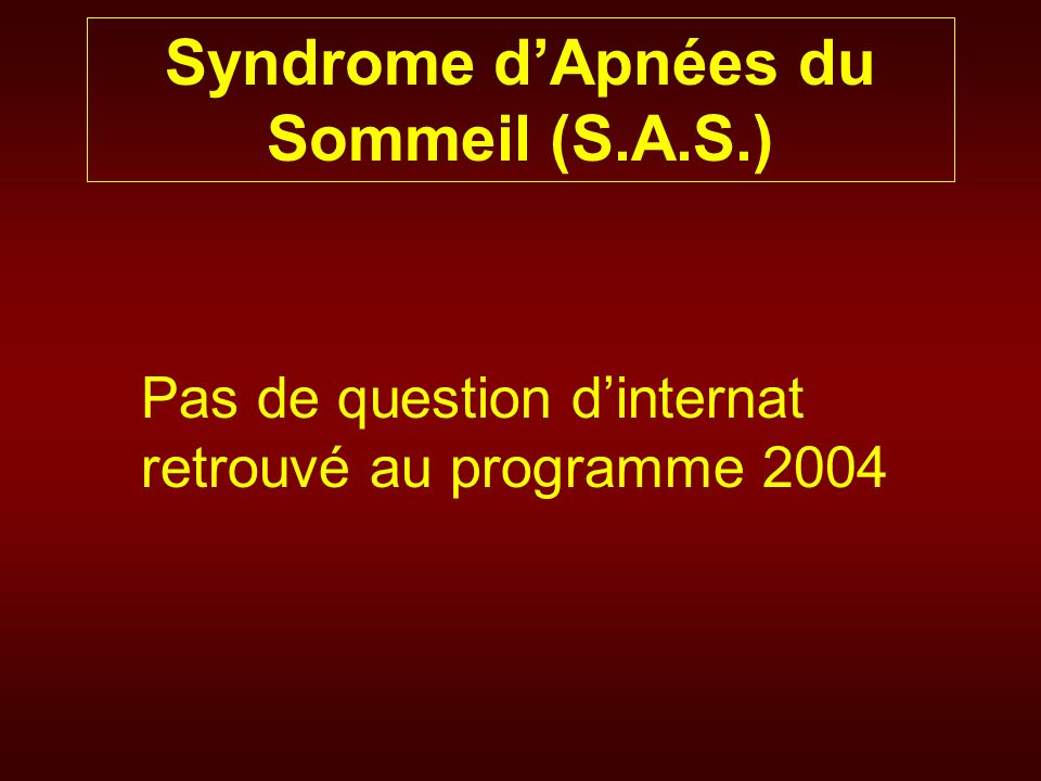Pas de question dinternat retrouvé au programme 2004