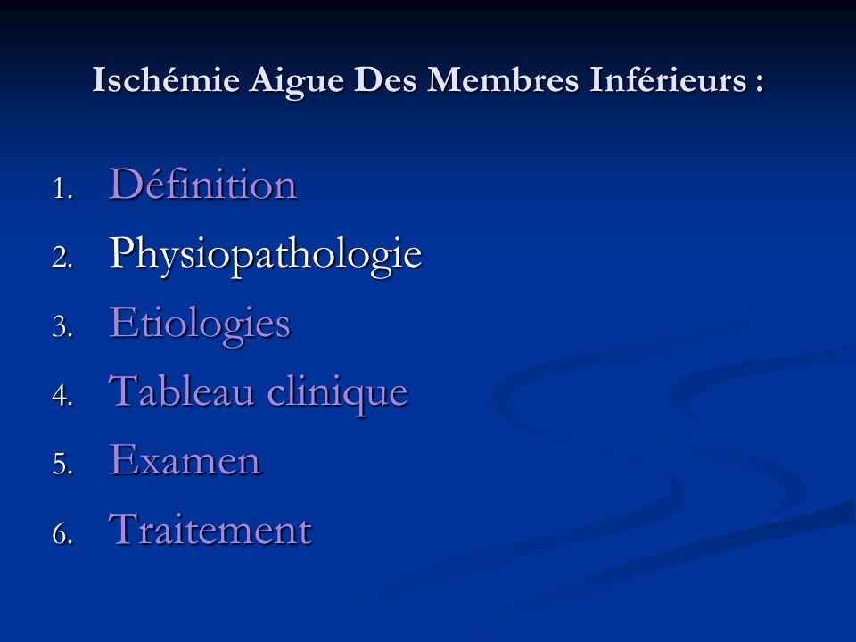 Ischémie Aigue Des Membres Inférieurs : 2.