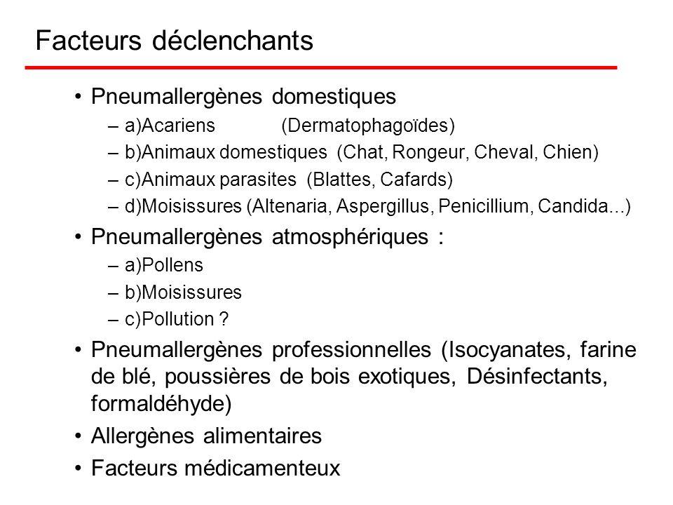 Asthme et allergie allergènes inhalés ou pneumallergènes allergènes ingérés (aliments, boisson) allergène professionnels Attention : tous les asthmes