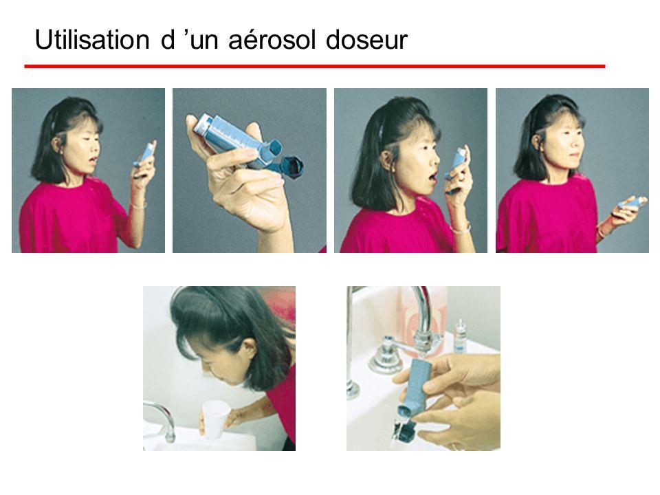 Aérosol doseur Il fonctionne sur le même principe que la laque à cheveux et les bombes insecticides. Le médicament est en suspension dans un liquide,