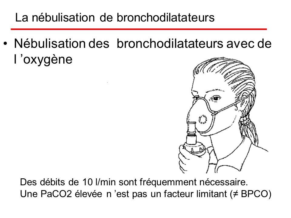 Une PaCO2 élevée n est pas un facteur limitant ( BPCO) L oxygène avant tout