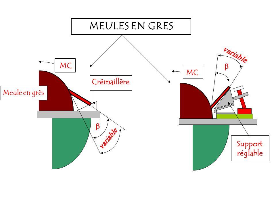 Meule en grès MC Crémaillère Support réglable MEULES EN GRES
