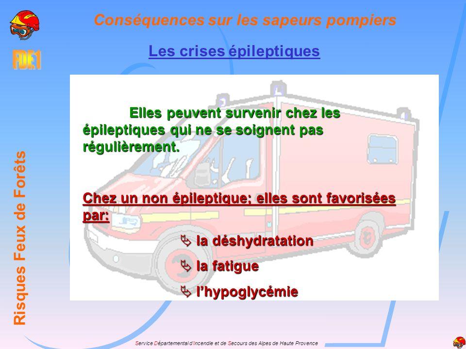 Service Départemental dIncendie et de Secours des Alpes de Haute Provence Accidents tardifs Les maladies infectieuses Risques Feux de Forêts Conséquences sur les sapeurs pompiers Les atteintes pulmonaires ou des voies respiratoires supérieures, sont assez fréquentes.