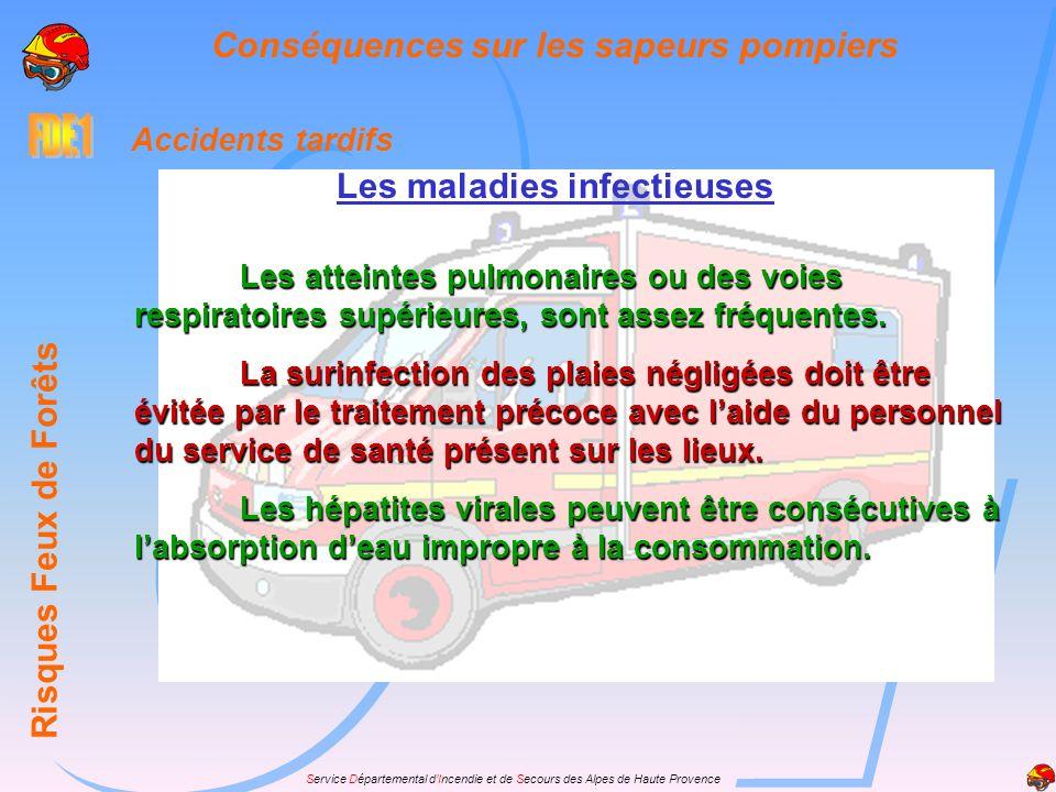 Service Départemental dIncendie et de Secours des Alpes de Haute Provence Accidents tardifs Les maladies infectieuses Risques Feux de Forêts Conséquen