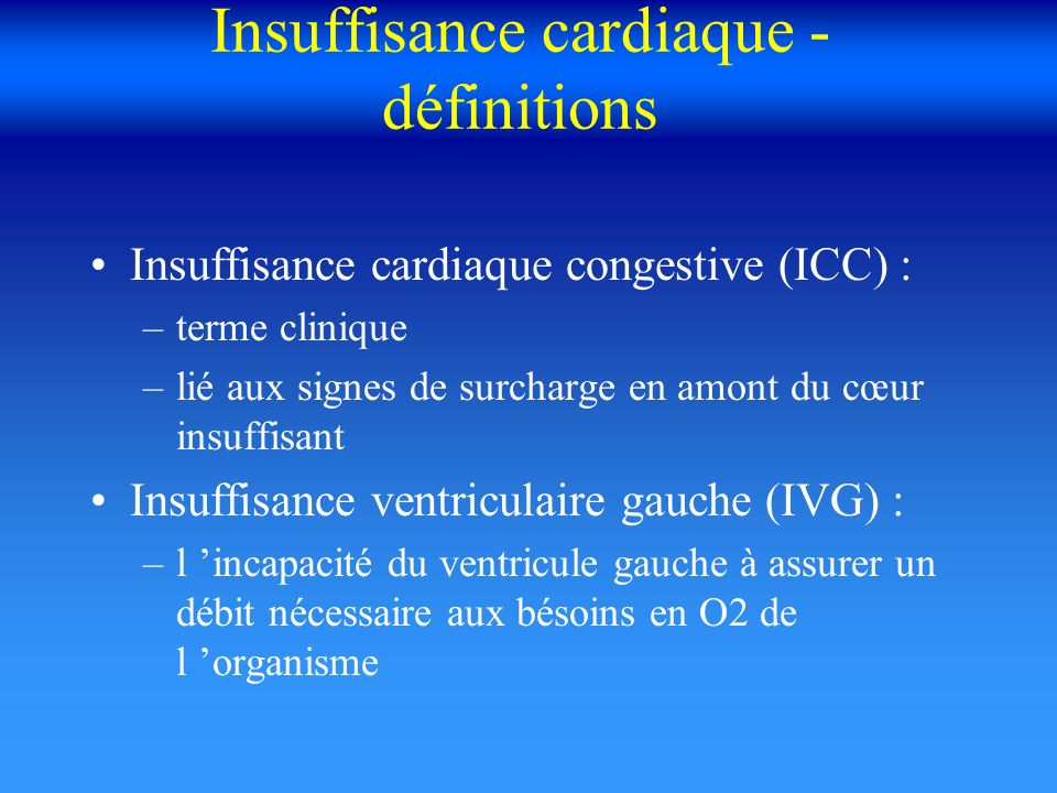 Insuffisance cardiaque aiguë OAP Hospitalisation repos strict O2 nitrés IV (Lenitral ou Risordan) diurétiques IV (Lasilix IV) inotropes+ (dobutamine, dopamine) IVSE