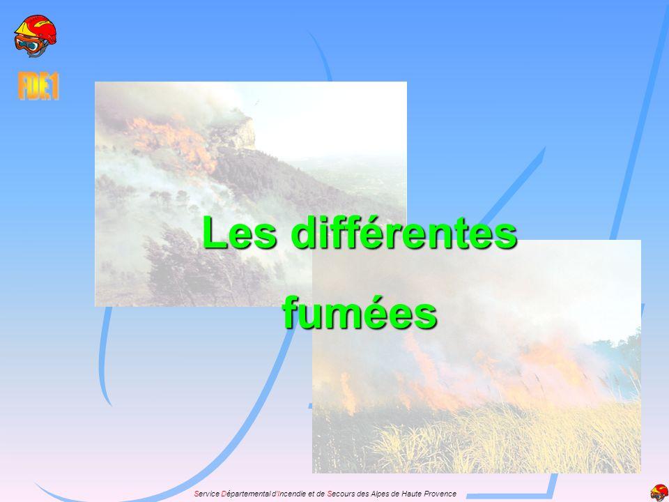 Service Départemental dIncendie et de Secours des Alpes de Haute Provence Les différentes fumées