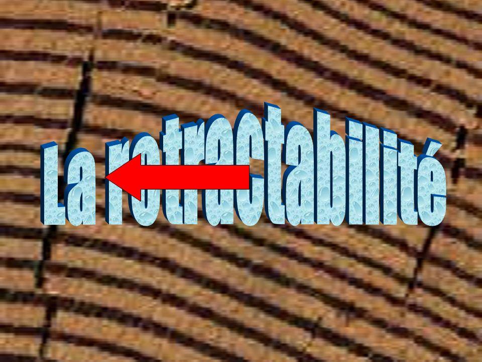 La rétractabilité A.Explication biochimique du retrait Explication de la rétractabilité par la biochimie Cellule de bois Anisotropie du bois B.Quand apparaît le retrait Apparition du retrait Étude des différents retraits en fonction de l humidité C.Évaluation du retrait Le retrait en pourcentage Les coefficients de rétractabilité D.Conséquences du retrait Les conséquences de la rétractabilité Exemples de conséquence du retrait Solution : bien séché