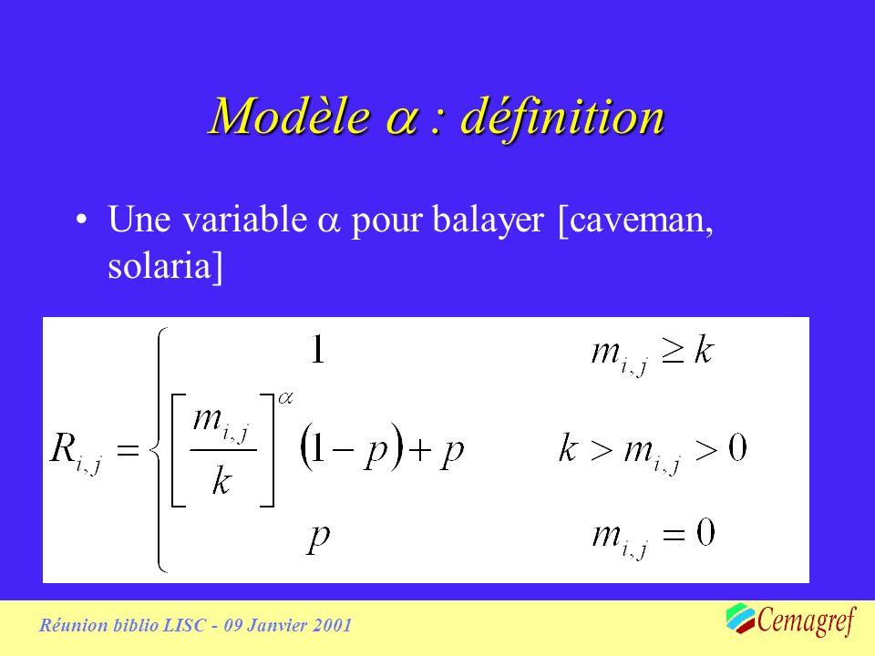 Modèle : définition Une variable pour balayer [caveman, solaria]