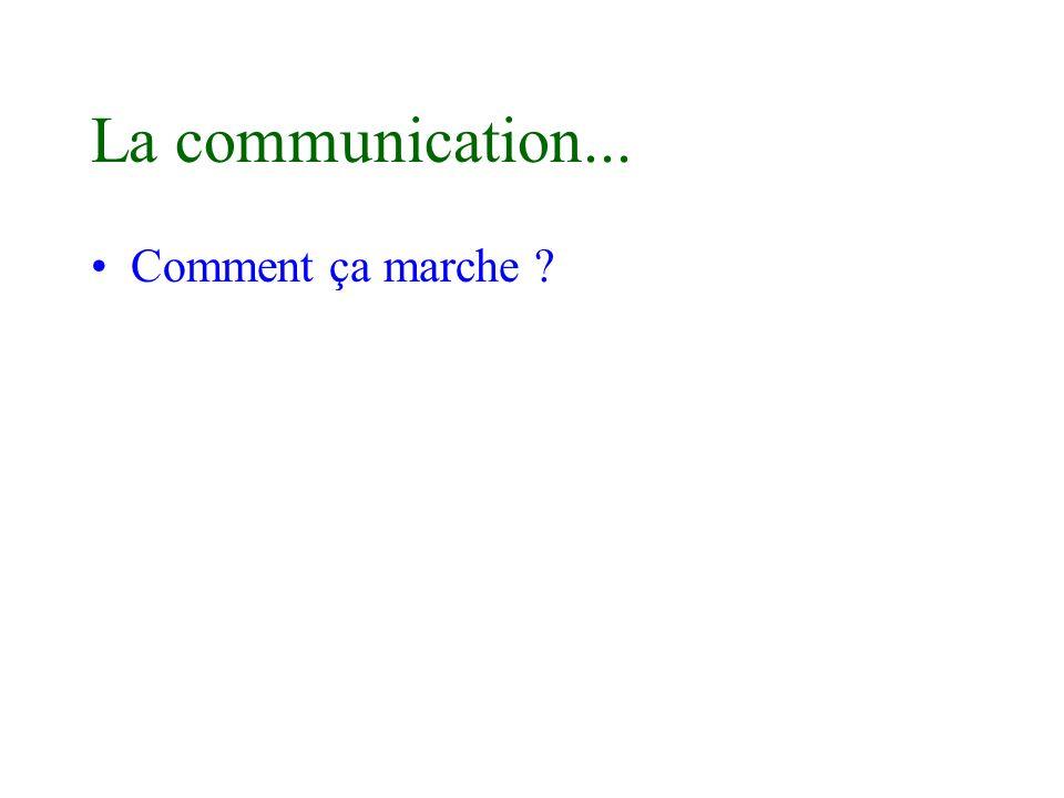 La communication... Comment ça marche ?