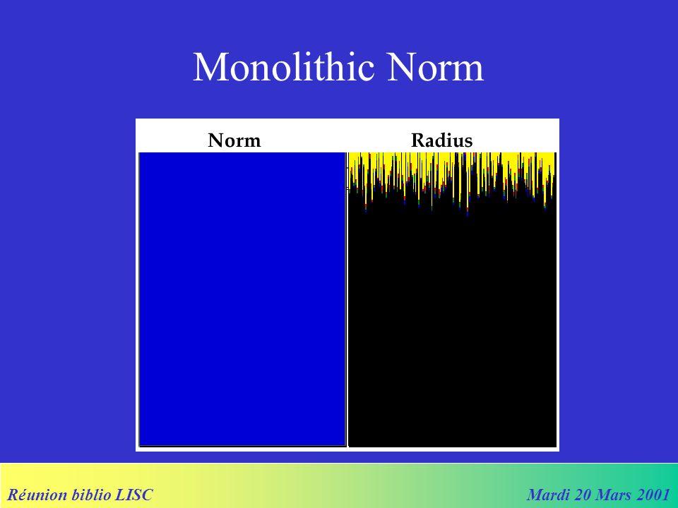 Réunion biblio LISCMardi 20 Mars 2001 Monolithic Norm
