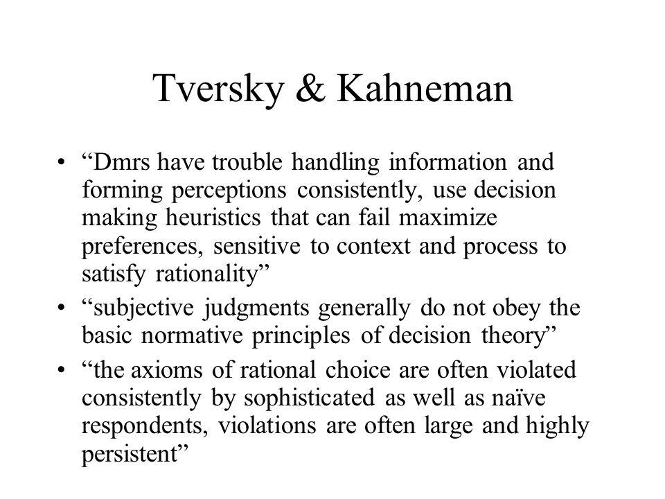 The decision process Information Perception / beliefs processChoice Preferences Motives Affect Attitudes Perception rationality .