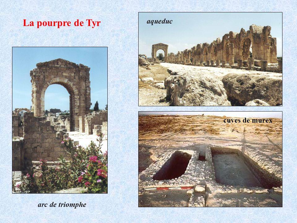 La pourpre de Tyr arc de triomphe aqueduc cuves de murex