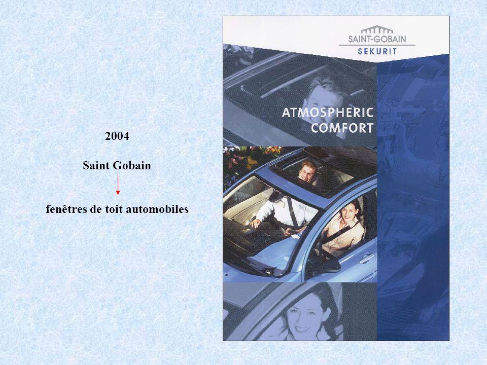 2004 Saint Gobain fenêtres de toit automobiles