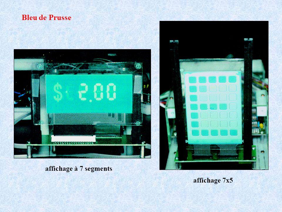 affichage 7x5 Bleu de Prusse affichage à 7 segments
