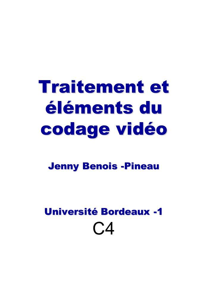 Codage par transformées(1) Objectifs : représenter le signal image/vidéo, le signal derreur de compensation du mouvement sur une base orthogonale -Les coefficients du développement sur la base ensuite seront quantifiés.