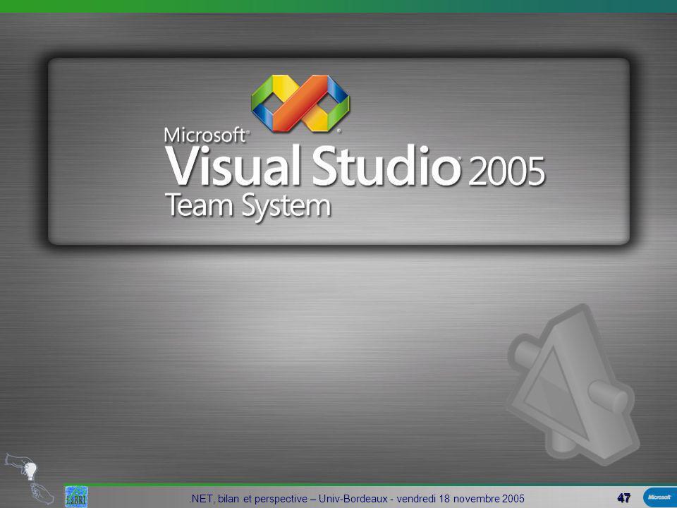 47.NET, bilan et perspective – Univ-Bordeaux - vendredi 18 novembre 2005