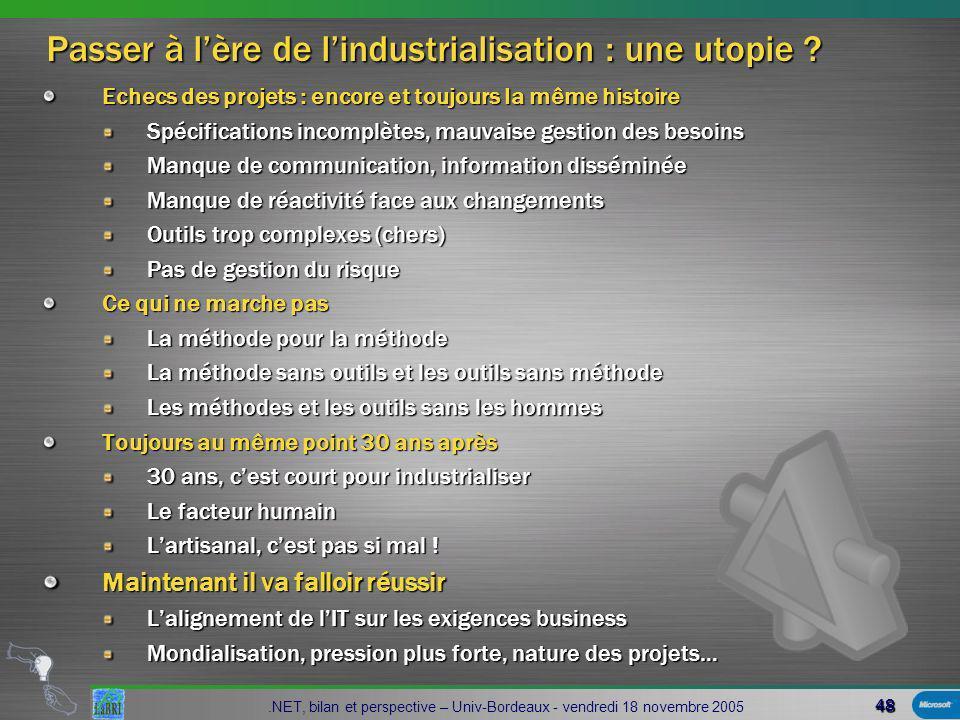 48 Passer à lère de lindustrialisation : une utopie .