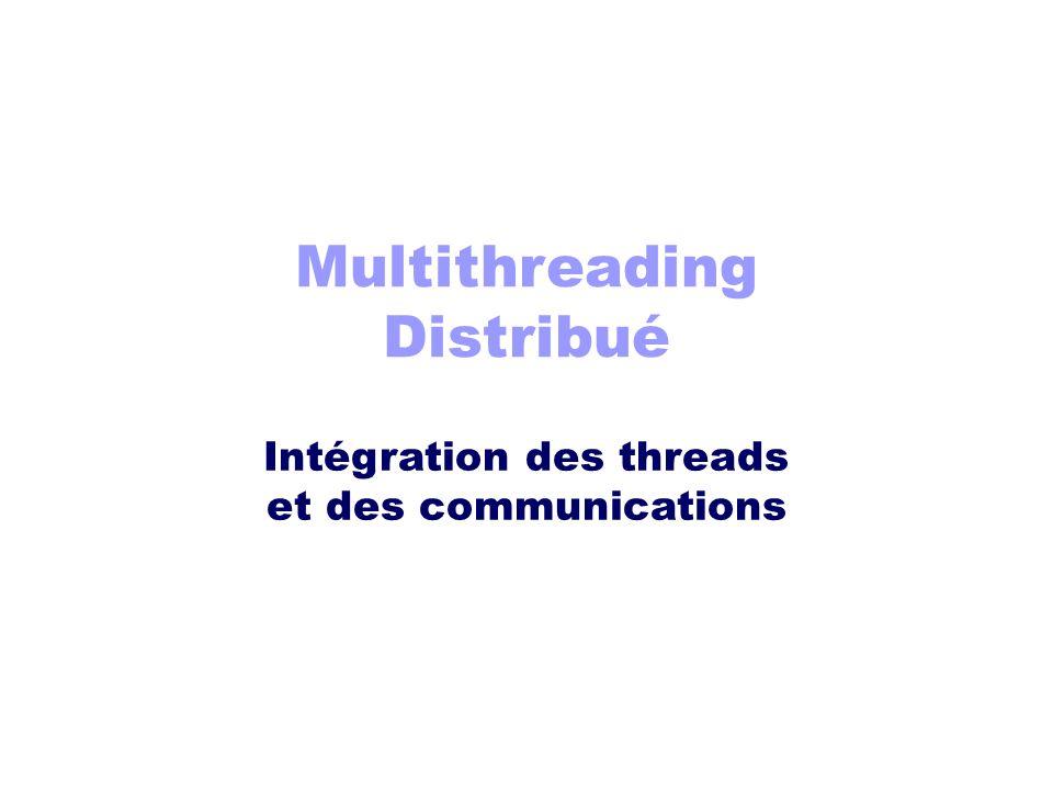 Multithreading Distribué Intégration des threads et des communications