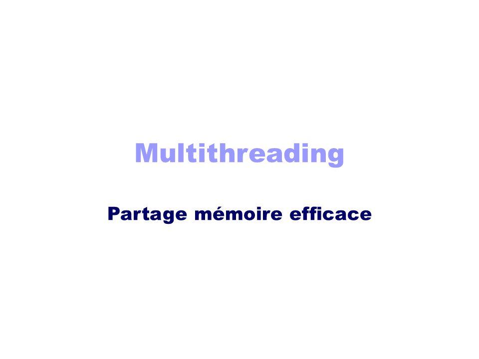 Multithreading Partage mémoire efficace