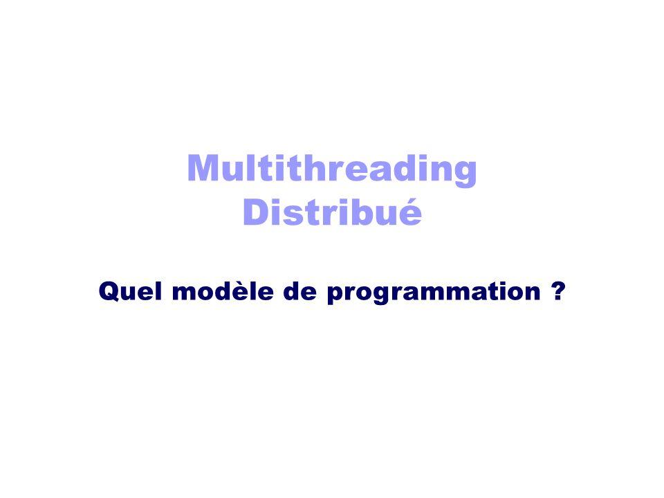 Multithreading Distribué Quel modèle de programmation ?
