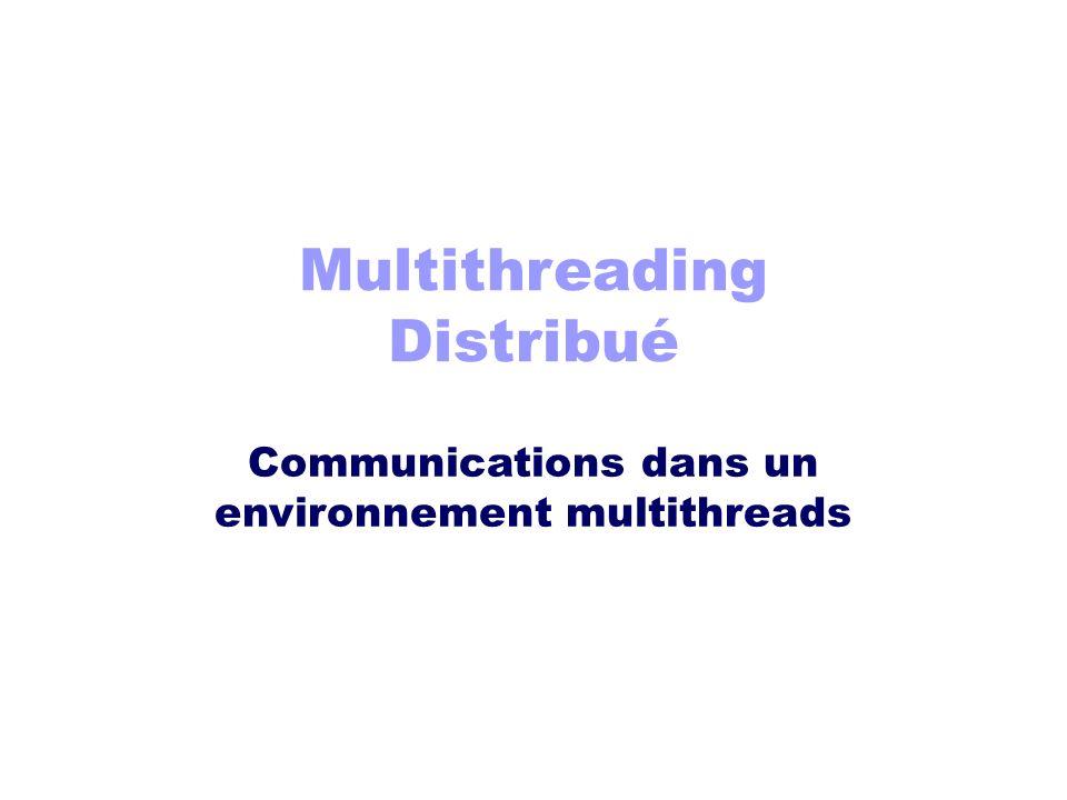 Multithreading Distribué Communications dans un environnement multithreads