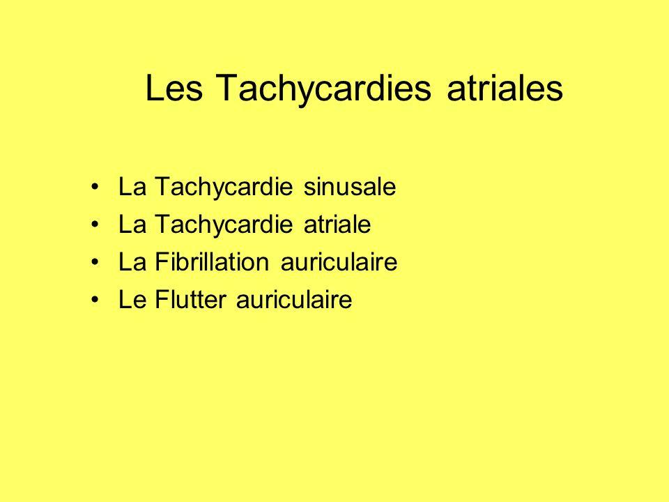 Les Tachycardies atriales La Tachycardie sinusale La Tachycardie atriale La Fibrillation auriculaire Le Flutter auriculaire