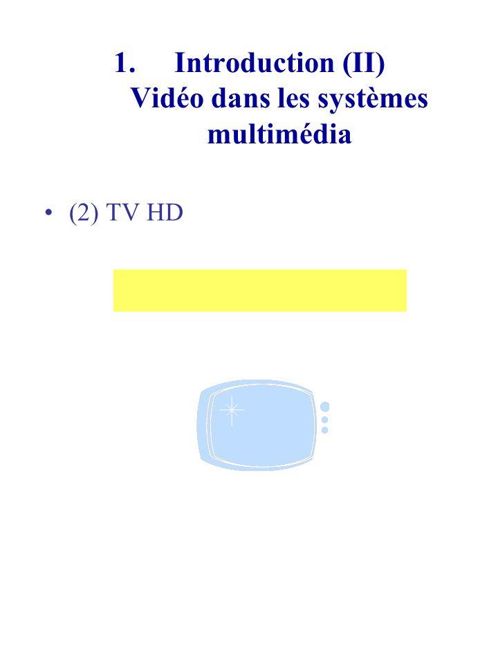 1.Introduction (III) Vidéo dans les systèmes multimédia (3)Vidéo sur IP