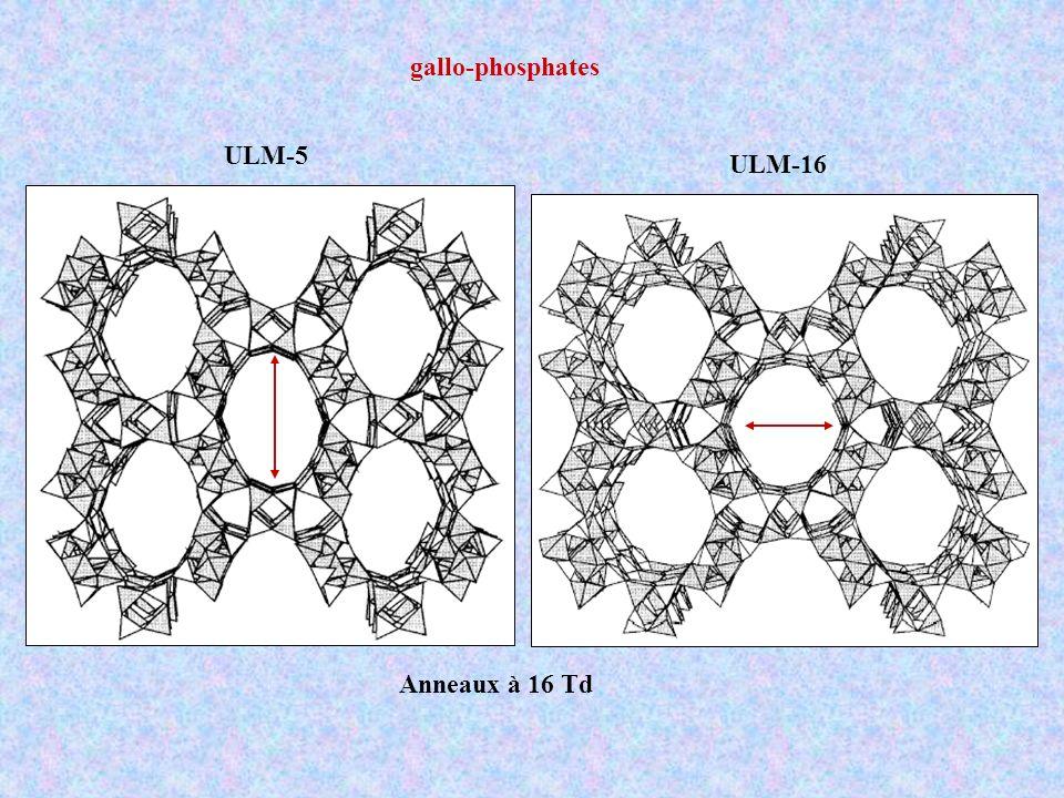 ULM-5 ULM-16 Anneaux à 16 Td gallo-phosphates
