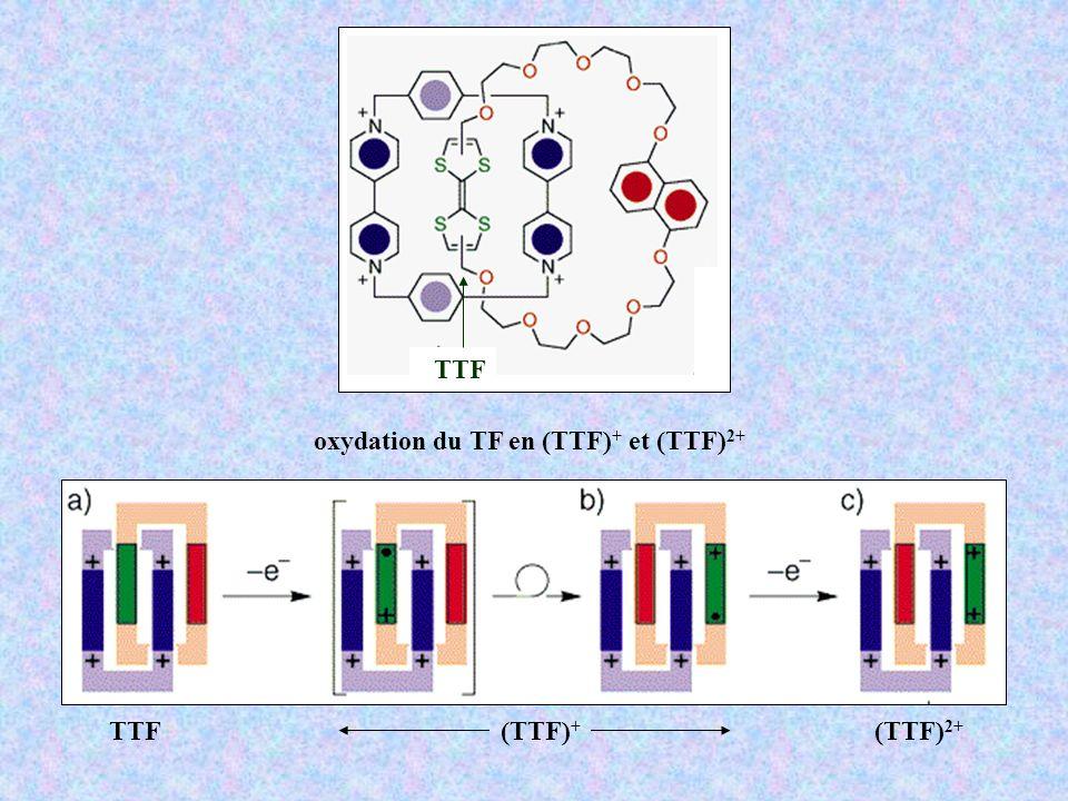 oxydation du TF en (TTF) + et (TTF) 2+ TTF(TTF) 2+ (TTF) + TTF