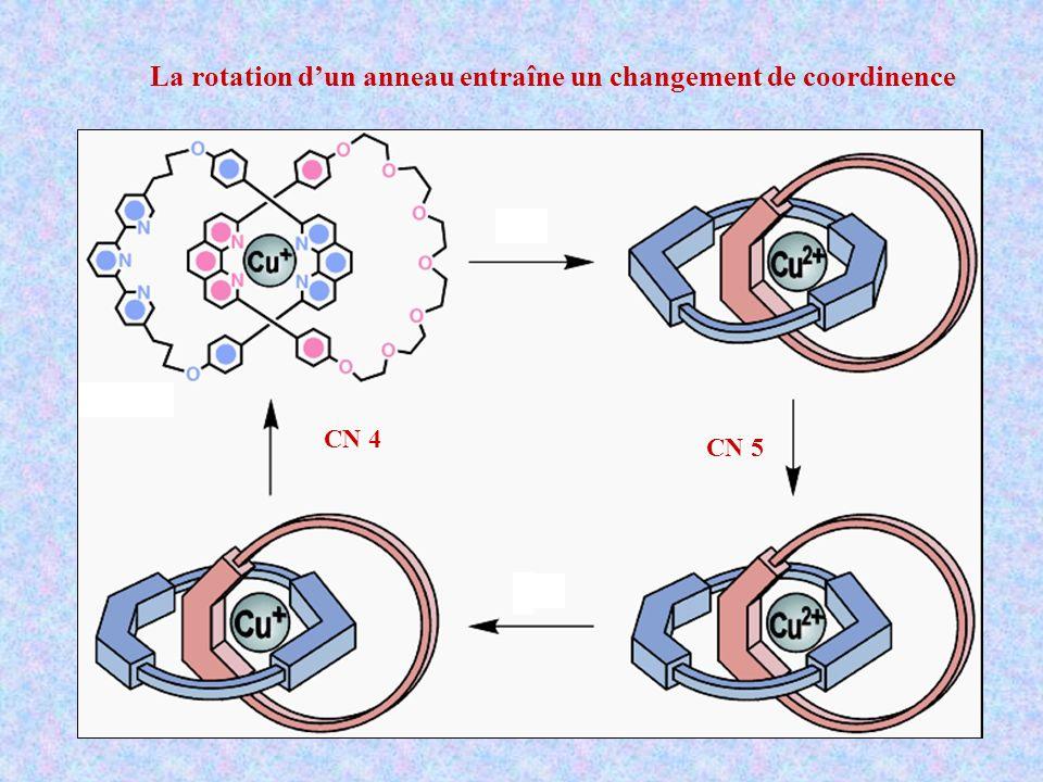 La rotation dun anneau entraîne un changement de coordinence CN 4 CN 5