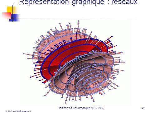 Initiation à linformatique (MI-1003) 22 Ll, Université Bordeaux 1 Représentation graphique : réseaux
