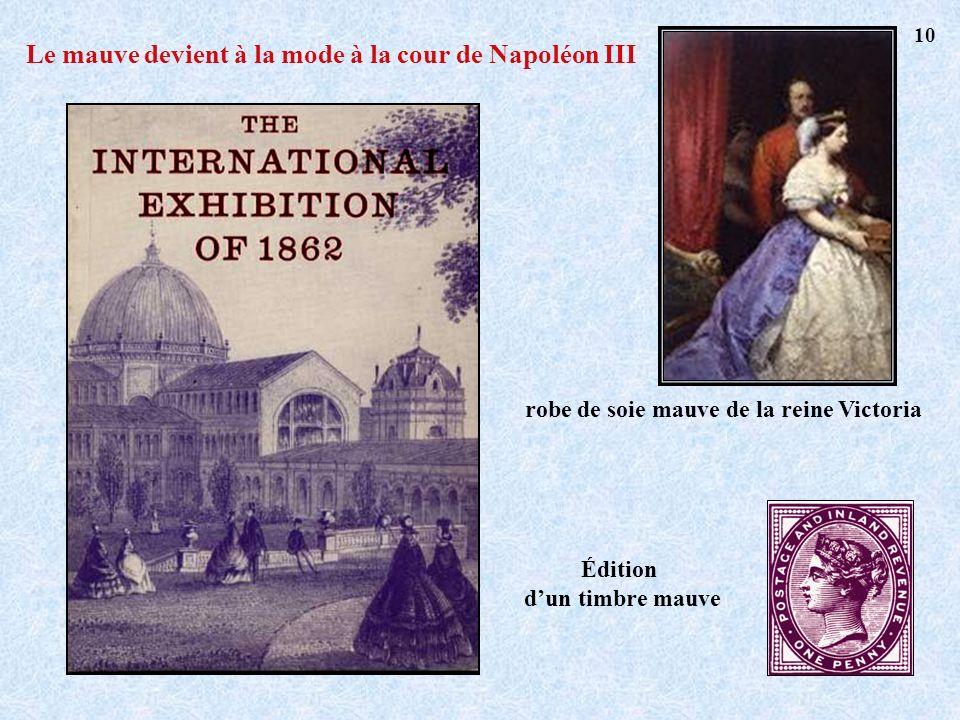 robe de soie mauve de la reine Victoria Édition dun timbre mauve Le mauve devient à la mode à la cour de Napoléon III 10