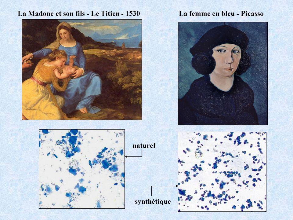 La femme en bleu - PicassoLa Madone et son fils - Le Titien - 1530 naturel synthétique